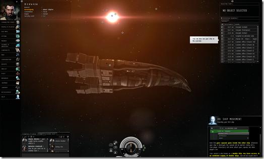 Eve Online első hajó